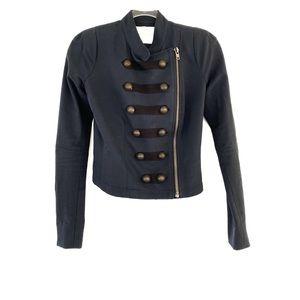 A.L.C. • Military Style Asymmetrical Zip Jacket